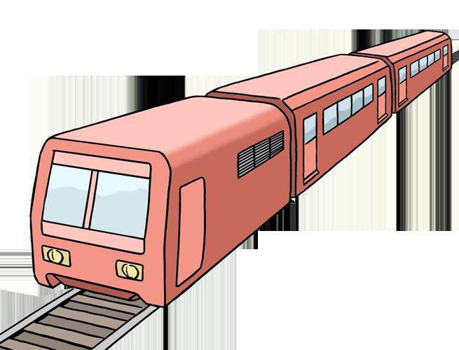 Bild zeigt einen Zug auf Schienen