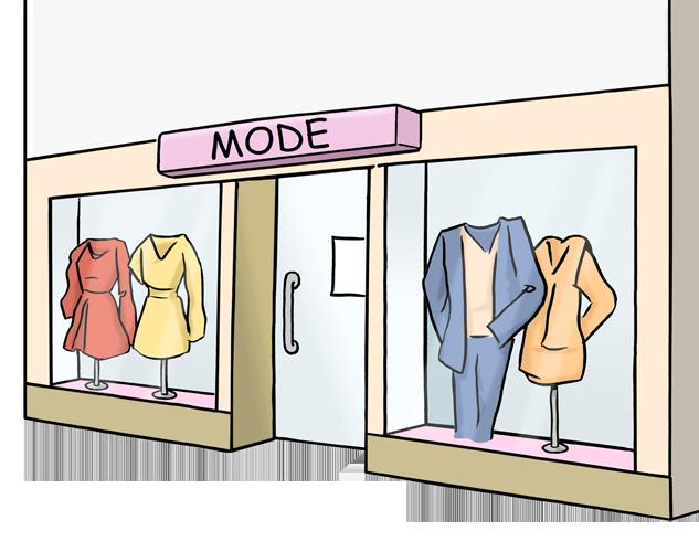 Bild zeigt ein Mode-Geschäft