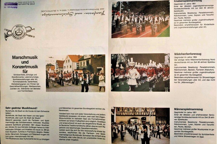 Ende 80ziger/Anfang 90ziger-Werbebroschüre unserer Musikzüge