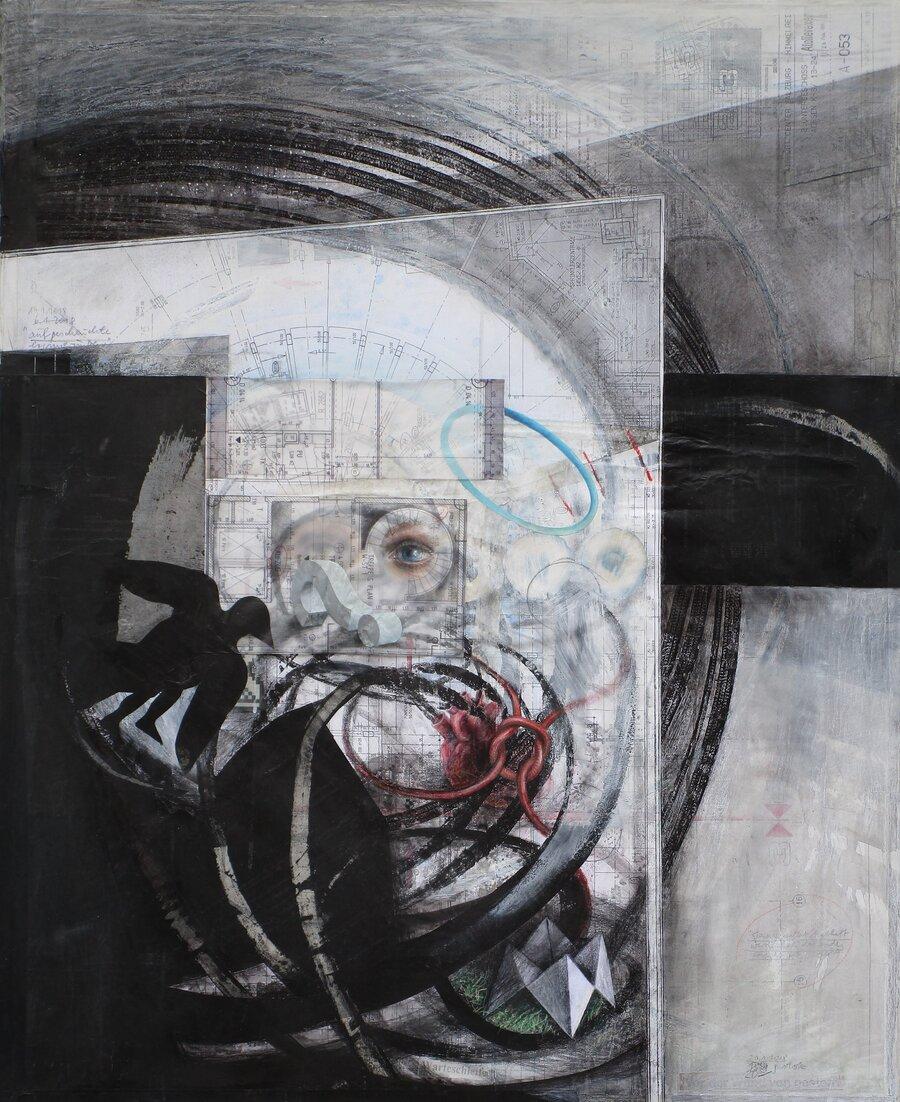 Aufgescheuchte Erinnerungen - 110 x 90 cm, 2018