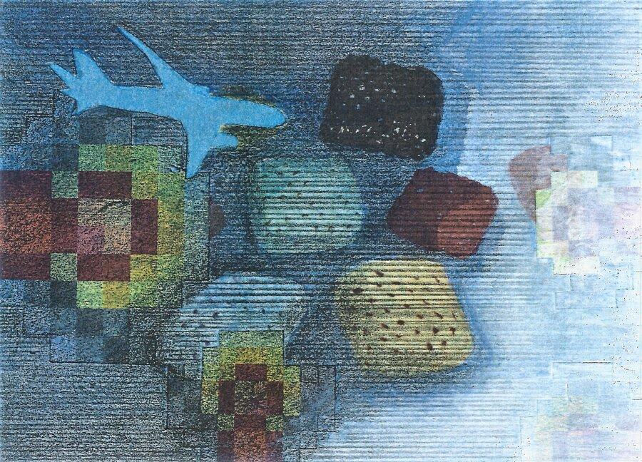 Turbulenzen II - 10,5 x 14,8 cm, 2016