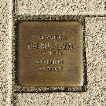 Stolperstein für Markus Lang