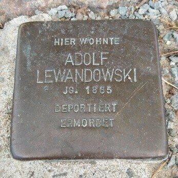 Stolperstein für Adolf Lewandowski