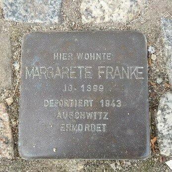 Stolperstein für Margarete Franke