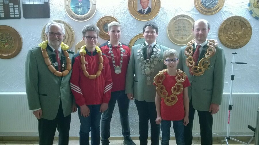 Hubert Dallinger, Alexander Obermaier, Simon Deißenböck, Stefan Ludwig und Rainer Obermaier