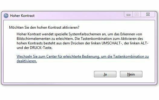 Bild zeigt die Systemanfrage zur Aktivierung des hohen Kontrats; Bild: Screenshot Stadt Maintal