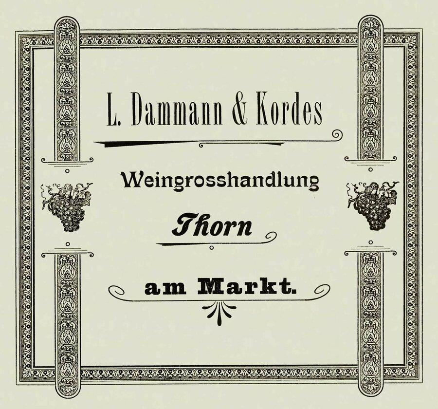Werbneanzeige der Firma Dammann & Kordes, ©Privatsammlung Kurt Müller, Berlin
