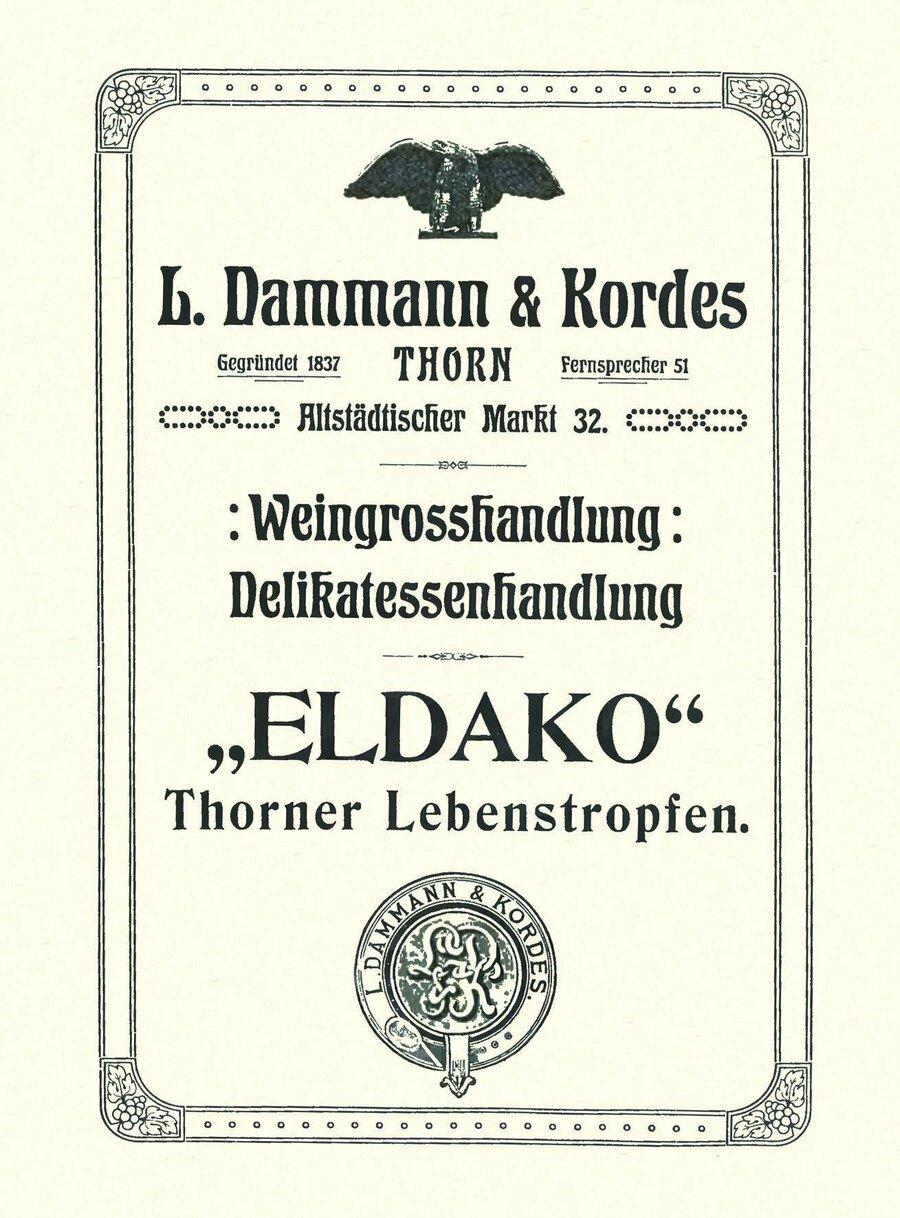 Werbeanzeige der Firma Dammann & Kordes, ©Privatsammlung Kurt Müller, Berlin