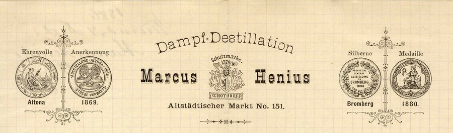 Logo der Firma Marcus Henius, ©Stephan Becker, Brüssow