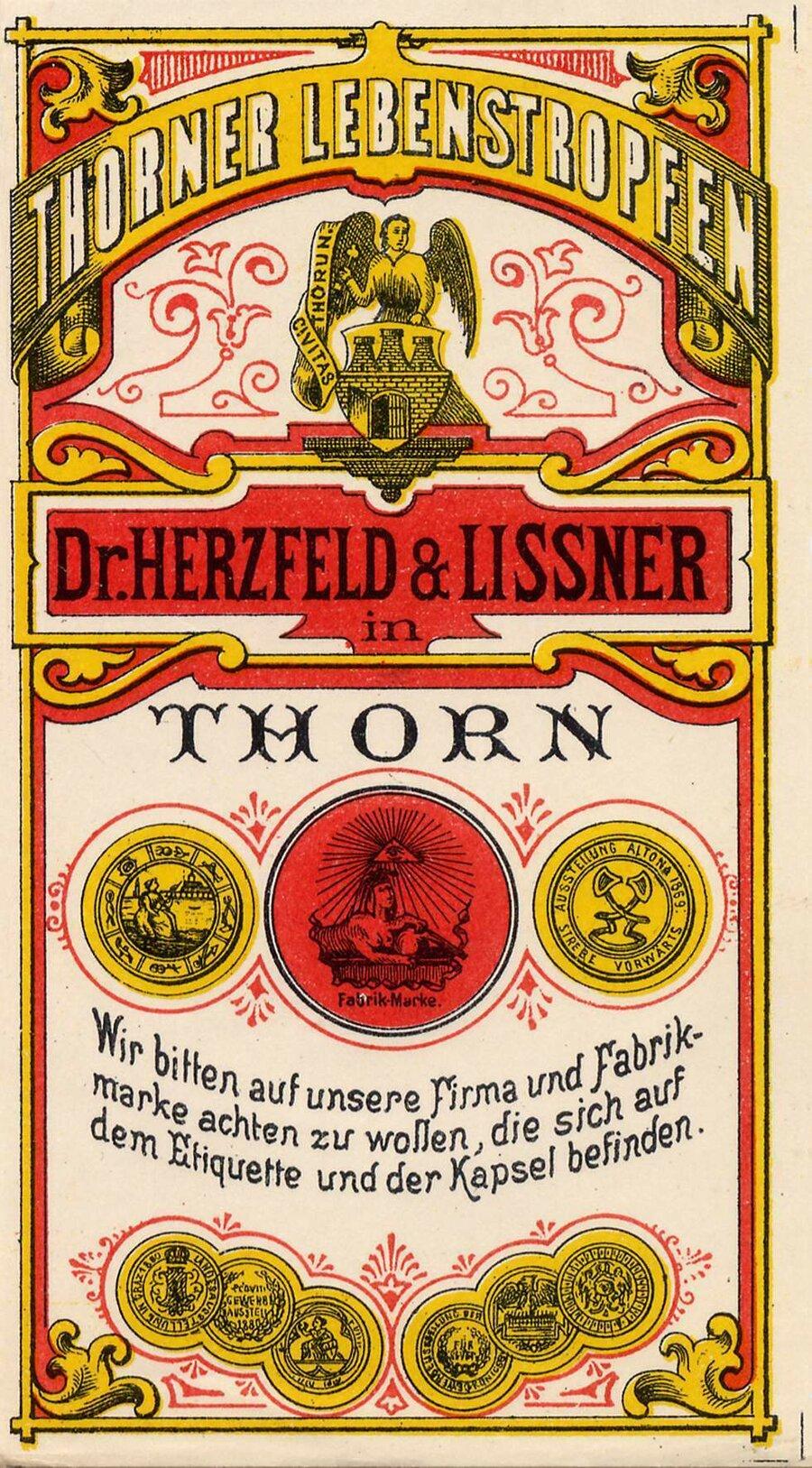 Etikett Thorner Lebenstropfen Vorderseite, ©Stephan Becker, Brüssow