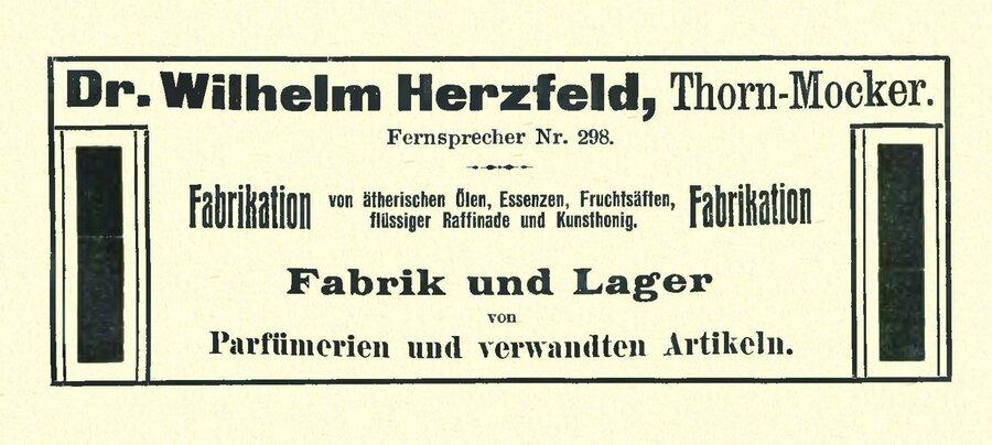 Werbeanzeige der Firma Dr. Herzfeld, ©Privatsammlung Kurt Müller, Berlin
