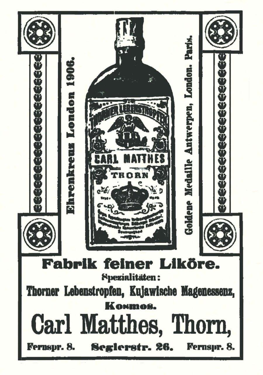 Werbeanzeige der Firma Carl Matthes, ©Privatsammlung Kurt Müller, Berlin