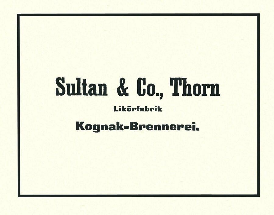 Werbeanzeige der Firma Sultan, ©Privatsammlung Kurt Müller, Berlin