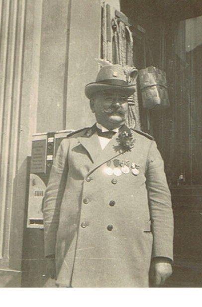 Carl Asmus - Vorsitzender der Schützengilde Wusterhausen