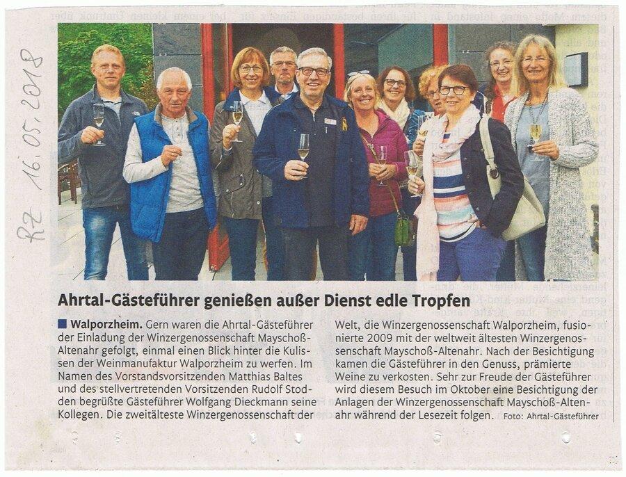 Gastführer in Walporzheim vom 16.05.2018