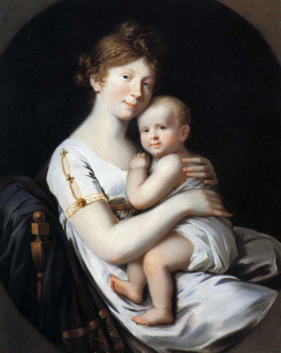 Luise_mit_Friedrich_Wilhelm IV von Johann Heinrich Schröder