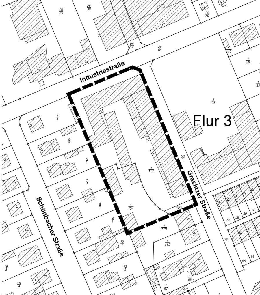 Räumlicher Geltungsbereich des vorhabenbezogenen Bebauungsplanes