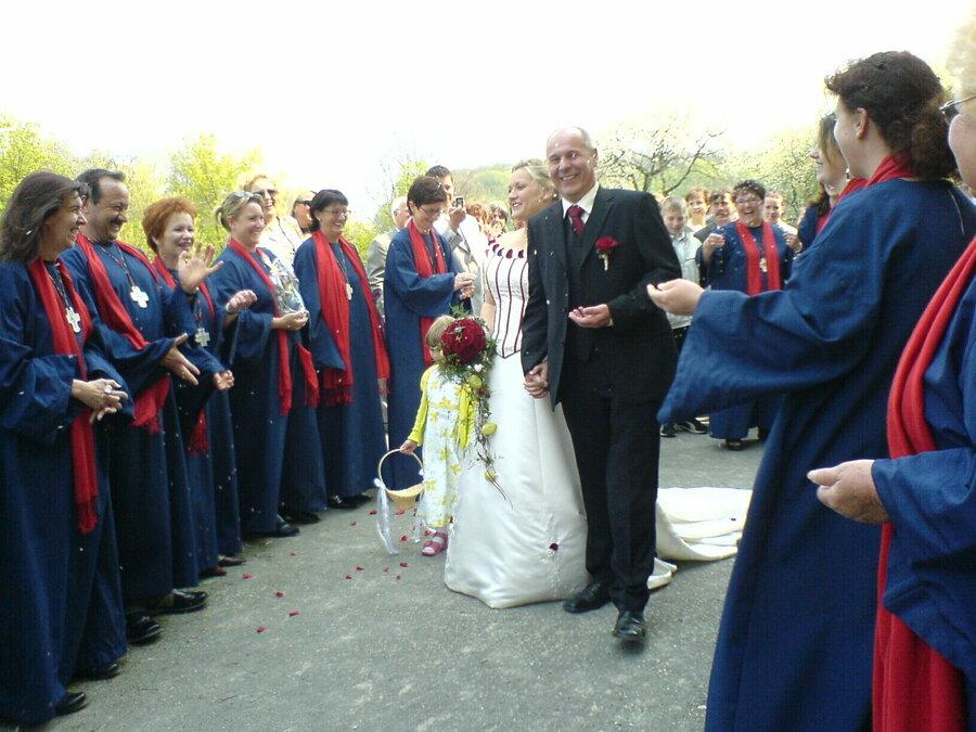 Hochzeit von Chormitglied Susi