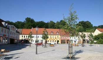 der neue Marktplatz von Bad Muskau