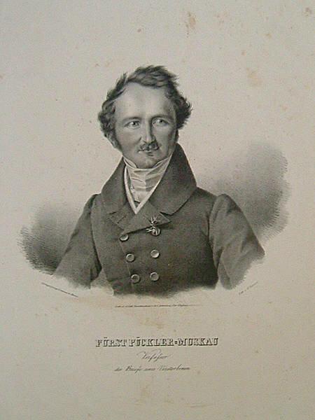 Fürst Hermann Ludwig Heinrich von Pückler-Muskau * 30. Oktober 1785 auf Schloss Muskau; † 4. Februar 1871