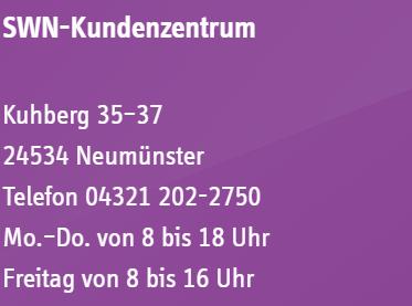 Kundenzentrum der Stadtwerke Neumünster