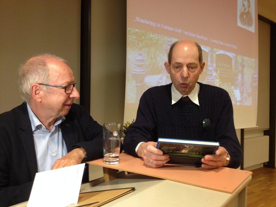 Hans-Jochen Röhrig & Matthias Marr nach der Lesung, Foto: Susanne Weber