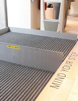 Plattformlifte HDN bodenbündige Hebeplattform zur Überwindung weniger Stufen