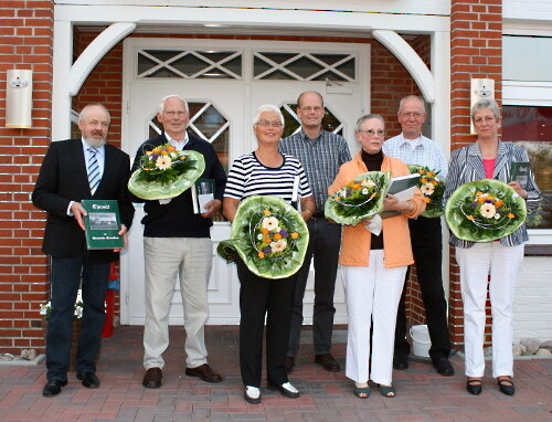 (v.l.:) Andreas Petersen, Wilhelm Gries, Dörte Steensen, Andreas Haman, Anke Hansen, Carl-Heinz Ketelsen, Susanne Ketelsen