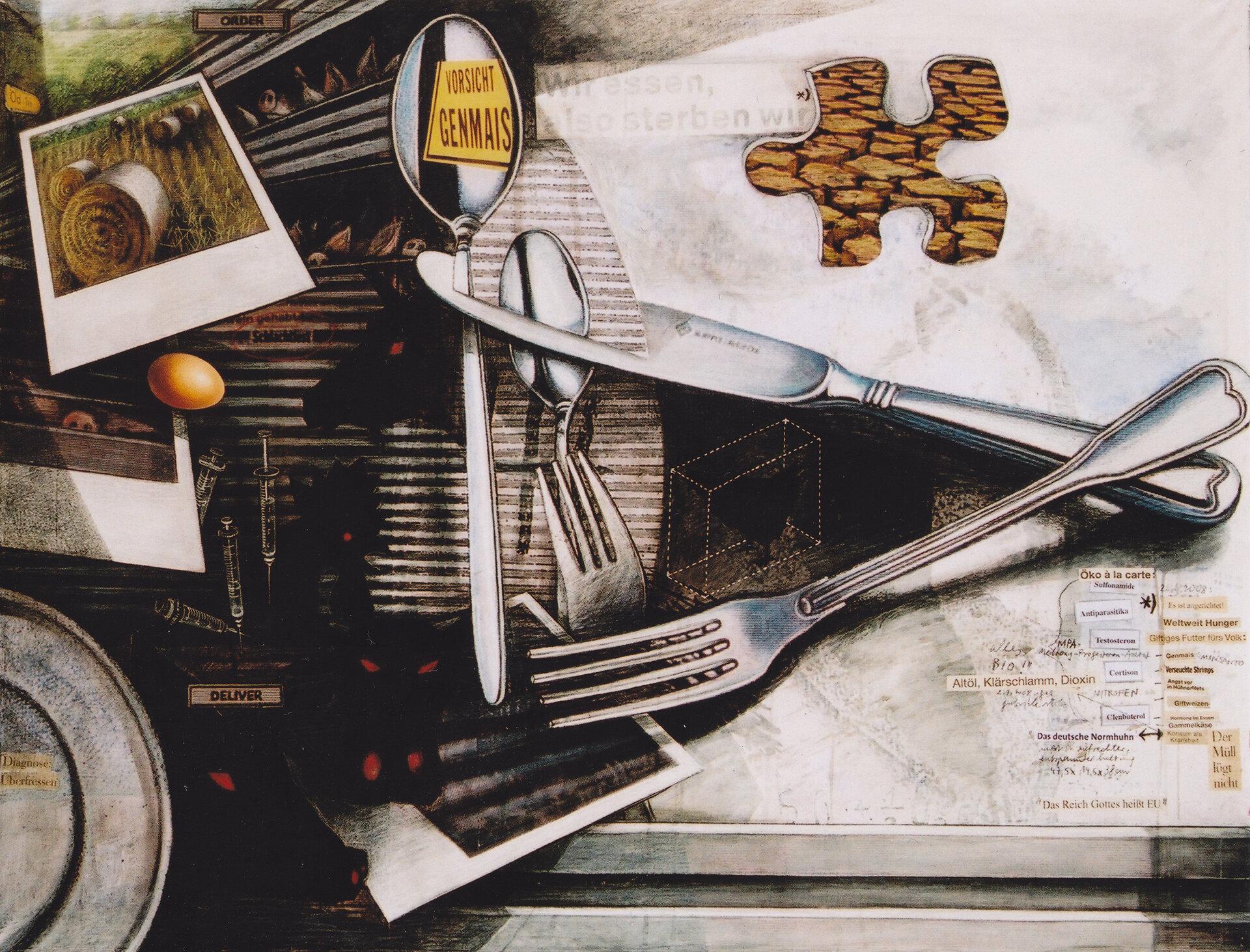 Mahlzeit - 90 x 120 cm, 2008