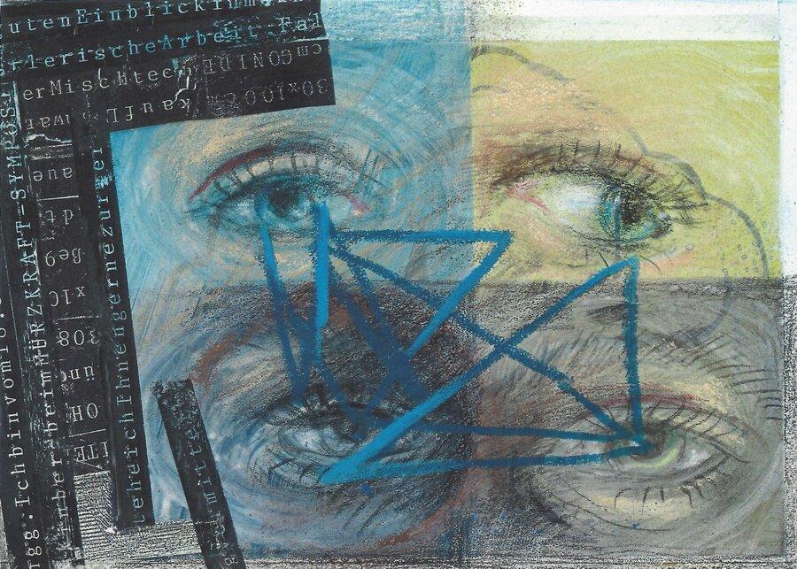 Unter 4 Augen - 10,5 x 14,5 cm, 2009