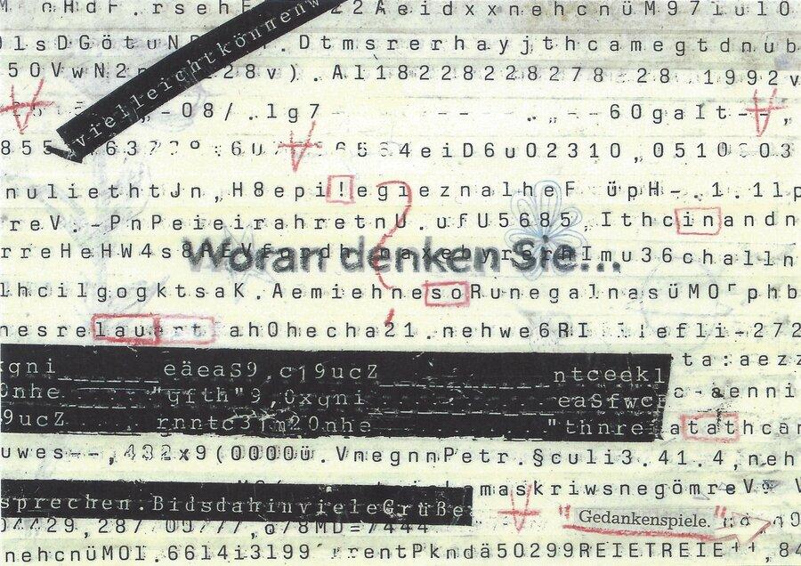 Gedankenspiele - 10,5 x 14,5 cm, 2009