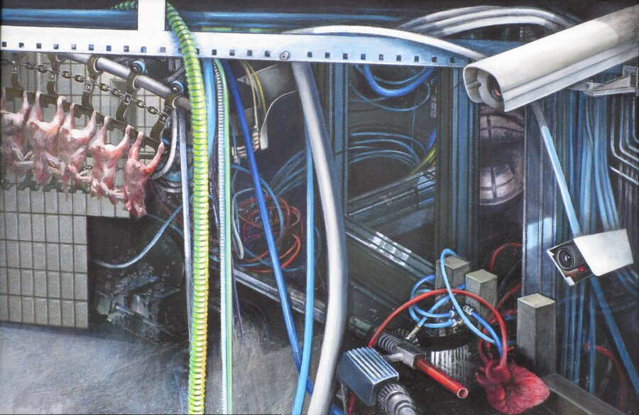 Denn sie wissen, was sie tun - Acryl auf Leinwand, 60 x 90 cm, 2010