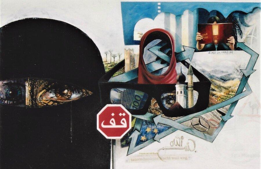 Fremde Heimat -  Acryl auf Leinwand, 60 x 90 cm, 2010