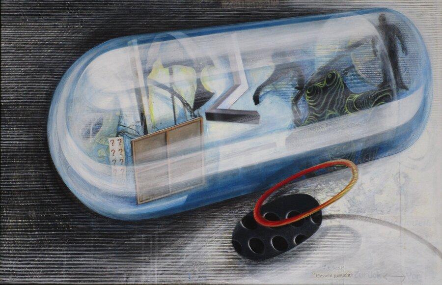Zeipkapsel - Acryl auf Leinwand, 60 x 90 cm, 2008