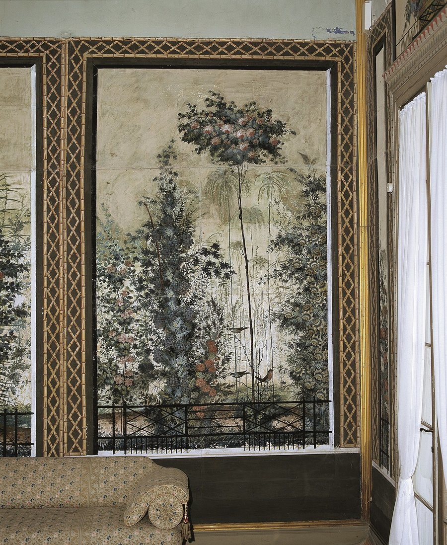 restaurierte Tapete aus dem Gartensaal