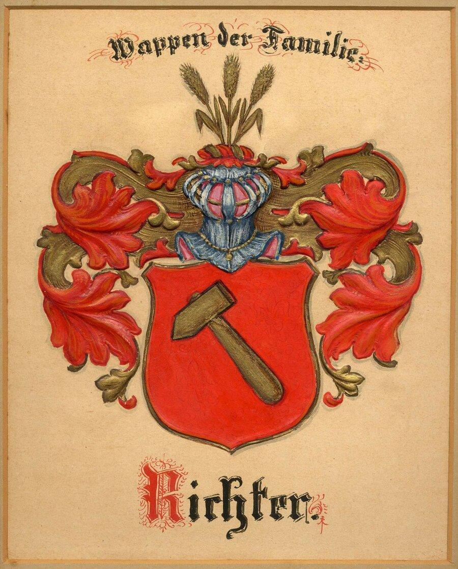 Wappen der Familie Richter, ©Stephan Becker, Brüssow