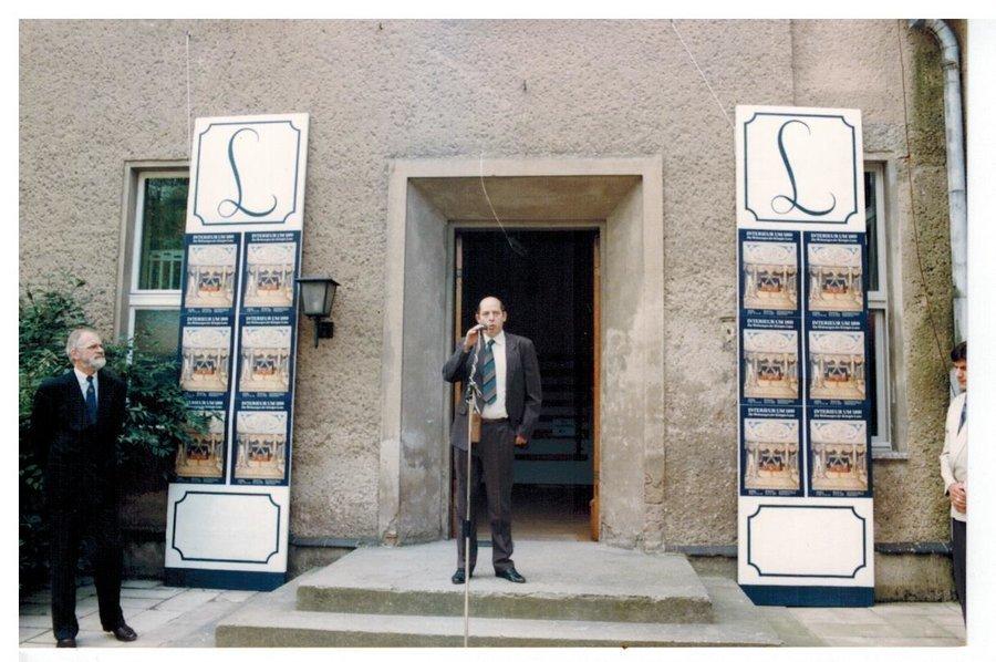 """Matthias Marr eröffnet die Ausstelleung """"Interieur um 1800..."""", Foto: unbekannt"""