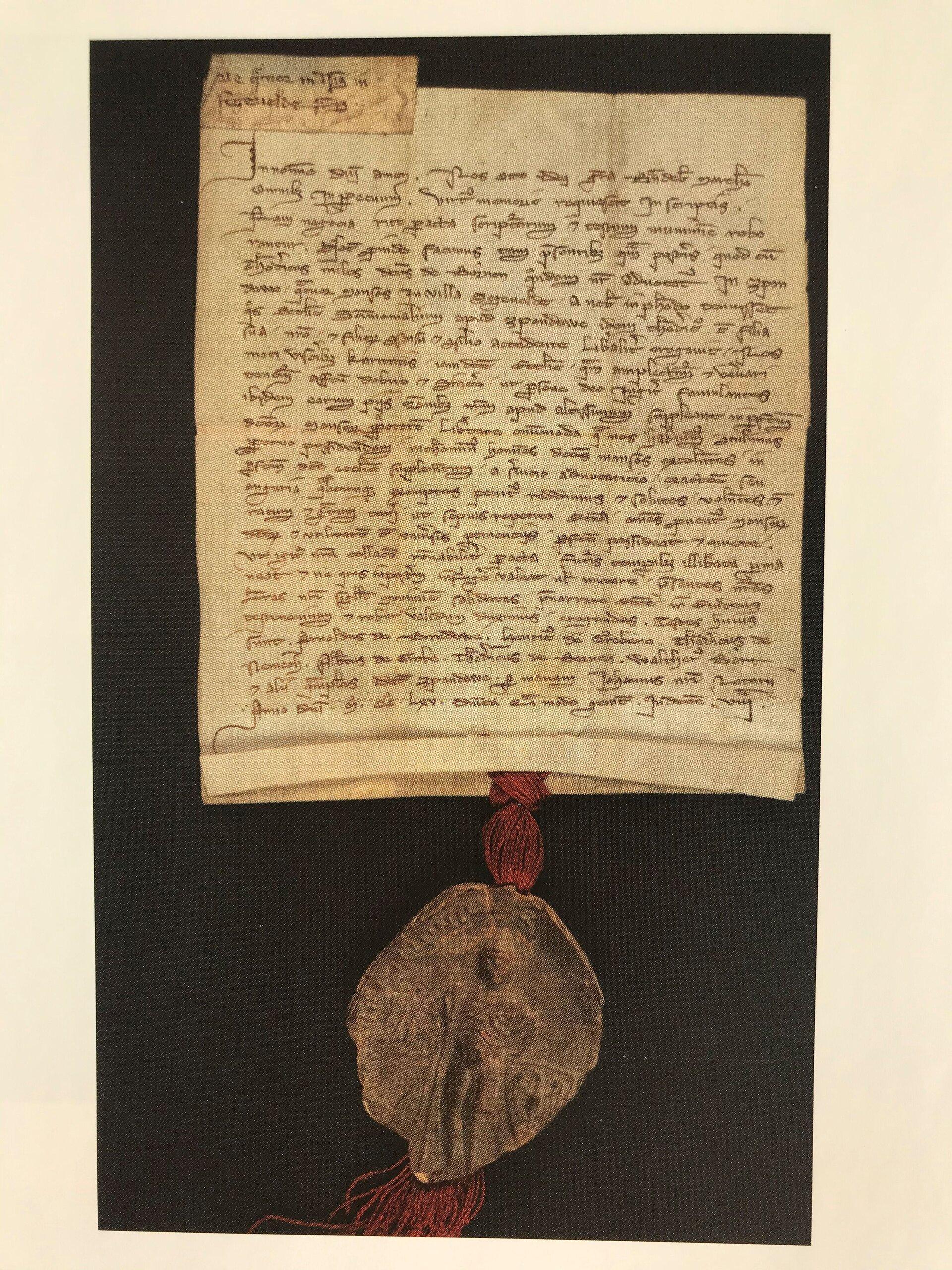 Erste urkundliche Erwähnung Seegefelds - Quelle: Geheimes Staatsarchiv Berlin, aus Festschrift 750 Jahre Seegefeld.