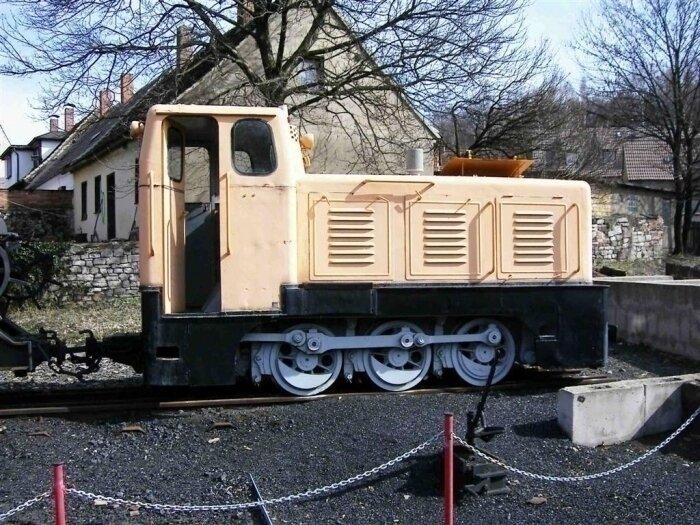 Diesellok im Freigelände des Mansfeld-Museum