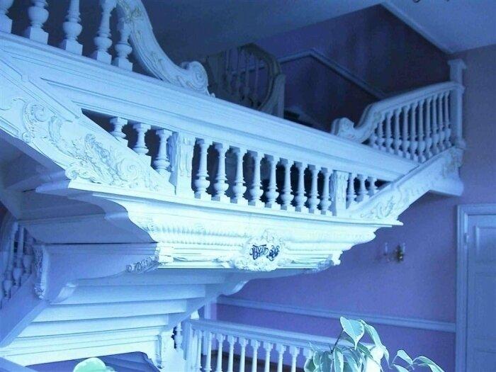 historische Treppe im Humboldtschloss von 1726