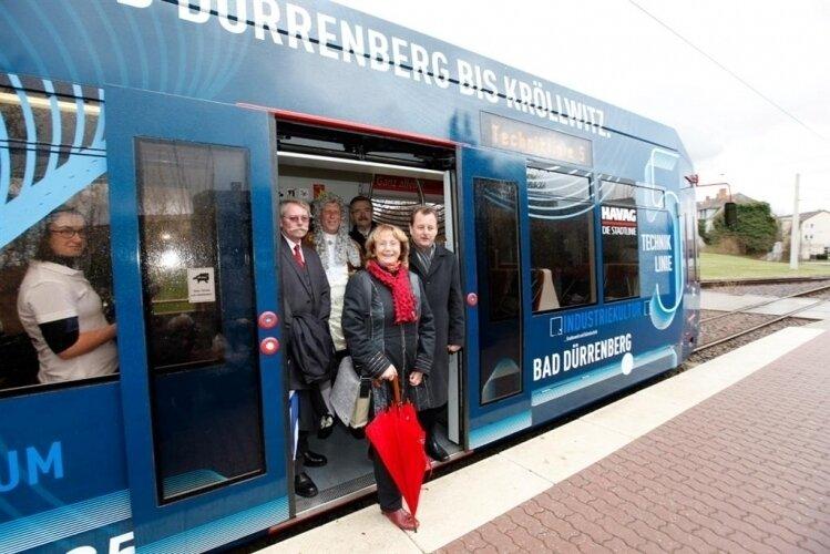 Start zur ersten Fahrt ab Bad Dürrenberg (Foto: Stadtmarketing Halle)