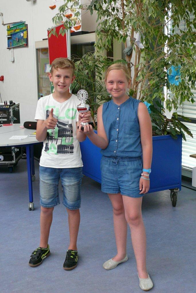 Gewinner des Pokals Saubere Klasse