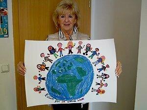 Karin Breuer mit Motiv