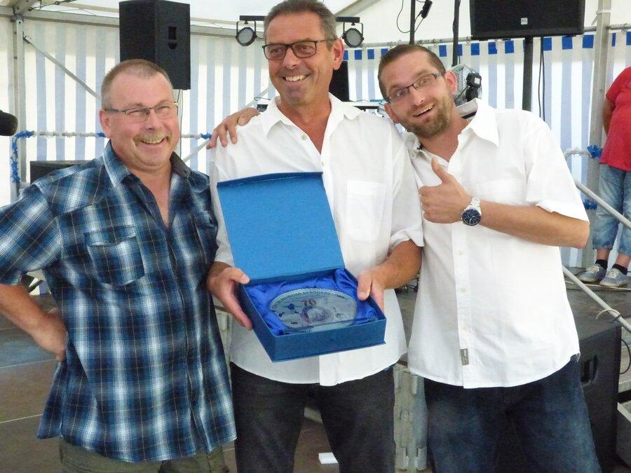Ehrung verdienter Mitglieder. 70 Jahre TSV Eggersdorf.