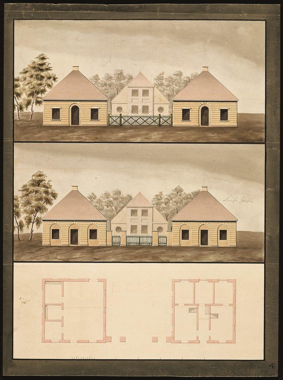 Die beiden Torhäuser von Paretz