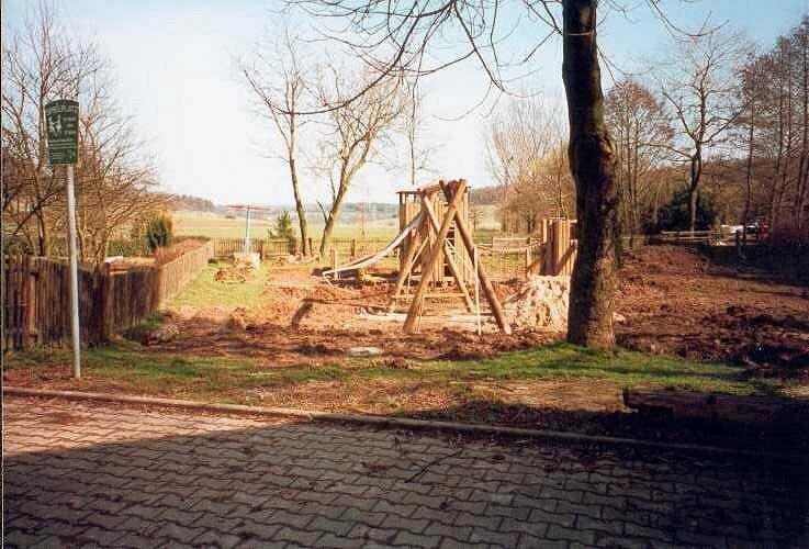 Der Spielplatz im Bau