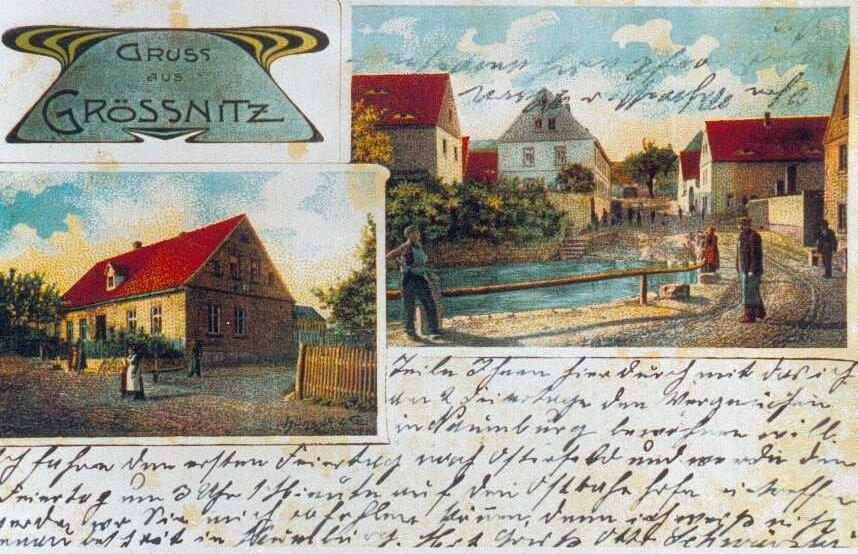 Alte Postkarte aus Größnitz / Sachsen-Anhalt