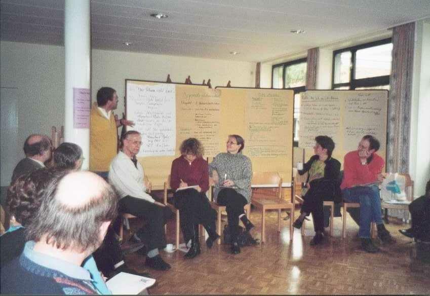 Moderation einer Open Space Tagung des Entwicklungspolitischen Landesnetzwerkes Rheinland-Pfalz (ELAN)