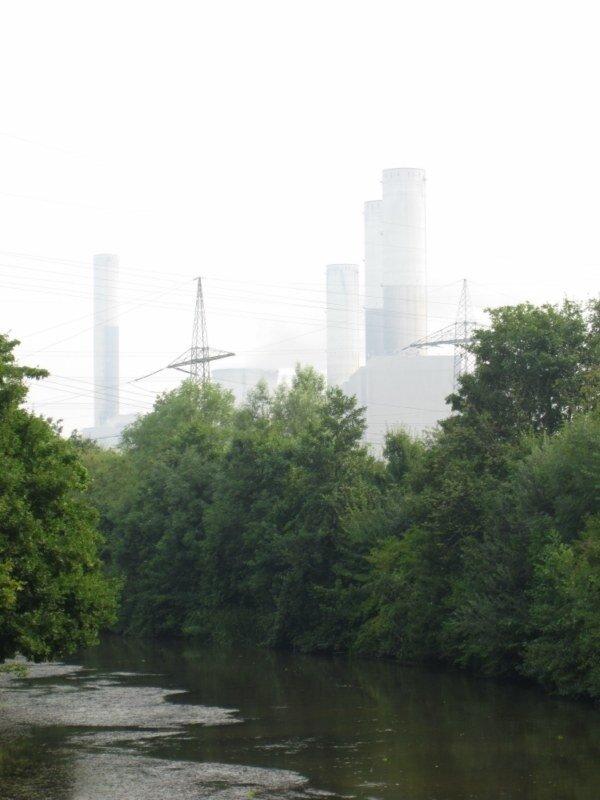 Blick in Richtung Kraftwerk