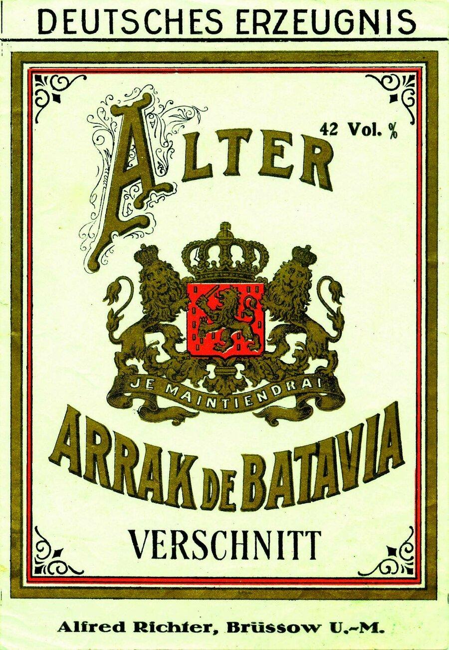 Etikett Alter Arrak de Batavia, ©Stephan Becker, Brüssow